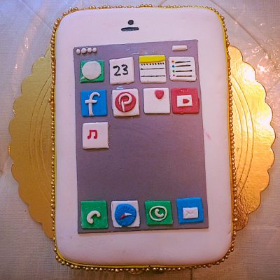 iphone 6 gold cake